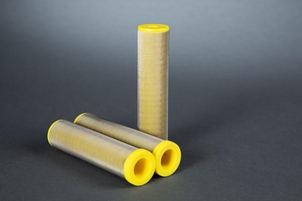 3 Stück Hauptfilter 70 Maschen gelb passend für WIWA Ø 36,4 mm Höhe 121 mm