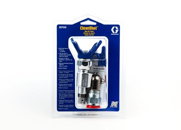 Graco CleanShot Ventil - Drehgelenk mit Düsenhalter RAC X und PAA-517 Düse - 287030