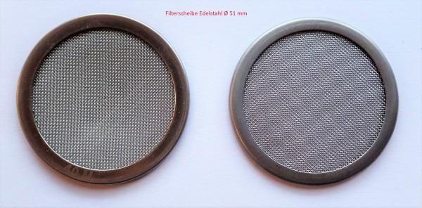 Filterscheibe Edelstahl Ø 51 mm passt für Wagner Farbtrichter