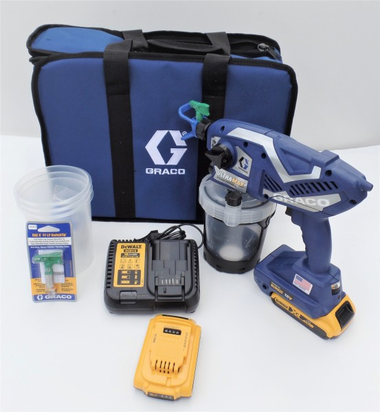 Graco Ultra Max HH kabelloses Handspritzgerät mit 2 Akkus für Lösemittel und wasserbasierte Lacke