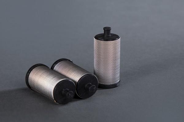 3 Stück Filter für WiWa-Hübner-ITW-Binks kurz, schwarz, 100 Maschen Ø 26 mm H: 53 mm