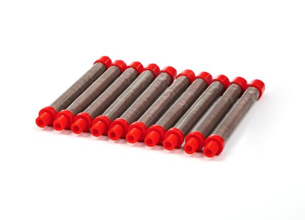 10 Stück Filter rot, 150 Maschen passend für Titan