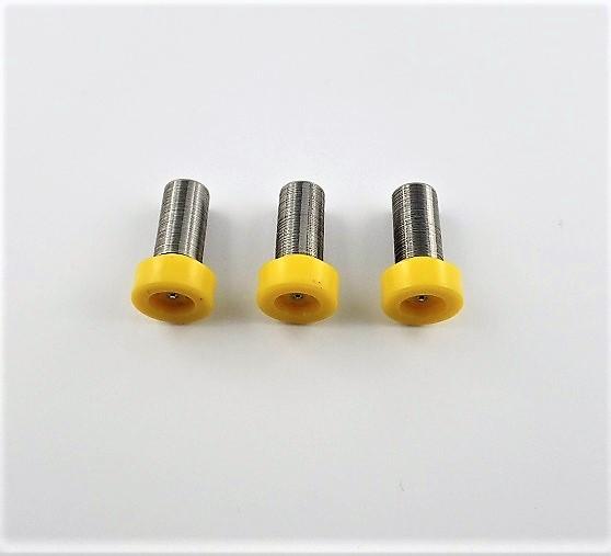 3x Spalt-Filter für Airless gelb, 200 Maschen