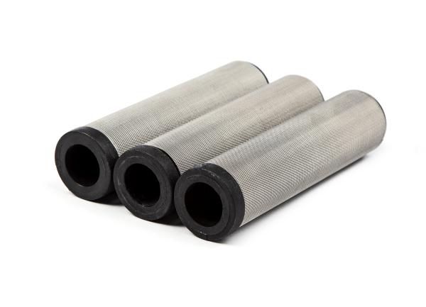 3 Stück Hauptfilter, 100 Maschen schwarz für WIWA, Hübner, ITW, Ø 33,5 mm Höhe 130 mm