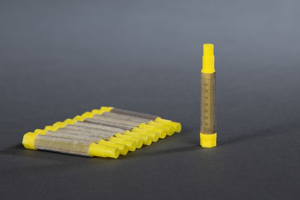 Airless Einschraubfilter gelb, 100 Maschen 10 Stück