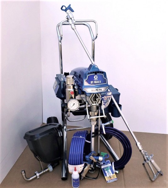 Graco Airlessgerät ST MAX II 595 PC Pro Hi Boy mit BLUE LINK, Behälter 5,7 l, Stabpistole 90cm