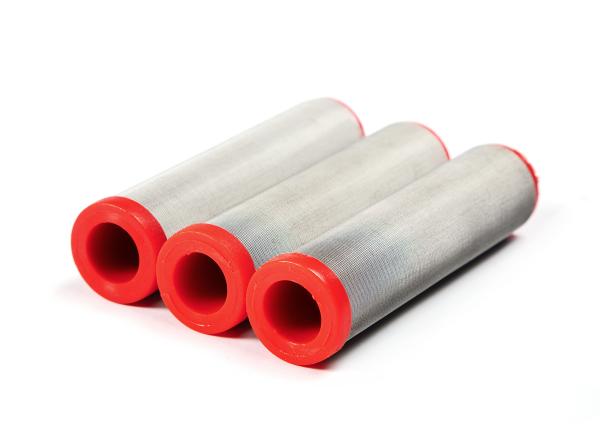 3 Stück Hauptfilter 150 Maschen rot passend für WIWA Ø 36,4 mm Höhe 121 mm