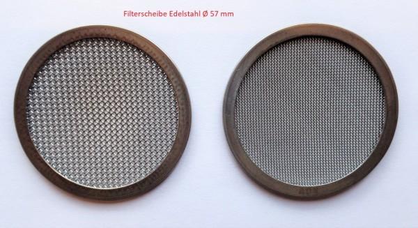 Filterscheibe Edelstahl Ø 57 mm passt für Wagner Farbtrichter