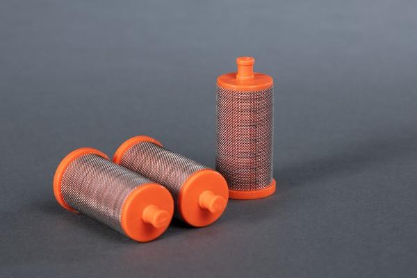 3 Stück Filter für WiWa-Hübner-ITW-Binks kurz, orange, 50 Maschen Ø 26 mm H: 53 mm