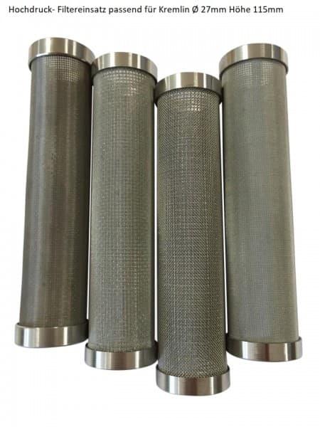 3 Stück Hochdruck-Filtereinsatz passend für Kremlin Ø 27 mm Höhe 115 mm