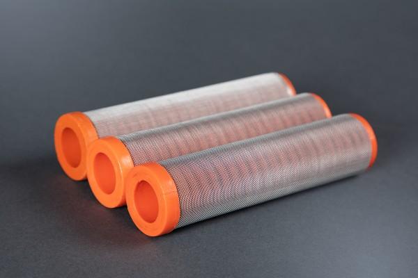 3 Stück Hauptfilter, 50 Maschen orange für WIWA, Hübner, ITW, Ø 33,5 mm Höhe 130 mm