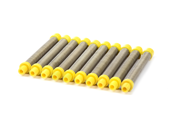 10 Stück Filter gelb, 100 Maschen passend für Titan