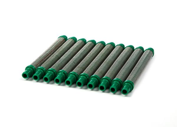 Airless Einsteckfilter 10 Stück für Wagner und Airless Pistolen grün, 30 Maschen für hochgefüllte