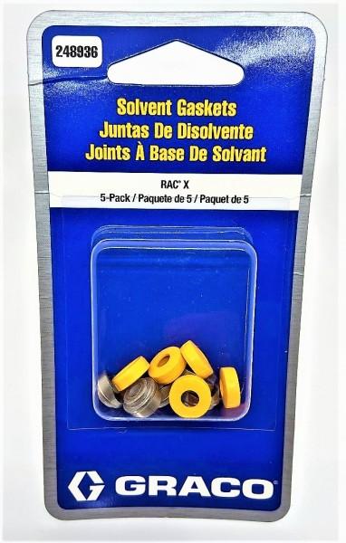 Graco RAC X Düsendichtung 5 Stück Dichtung Orange geeignet für lösemittelhaltige - 248936