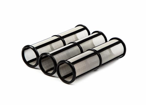 3 Stück Hauptfilter mittel für Graco Airlessgerät, schwarz/60 Maschen, Ø 31 mm, Höhe 114 mm