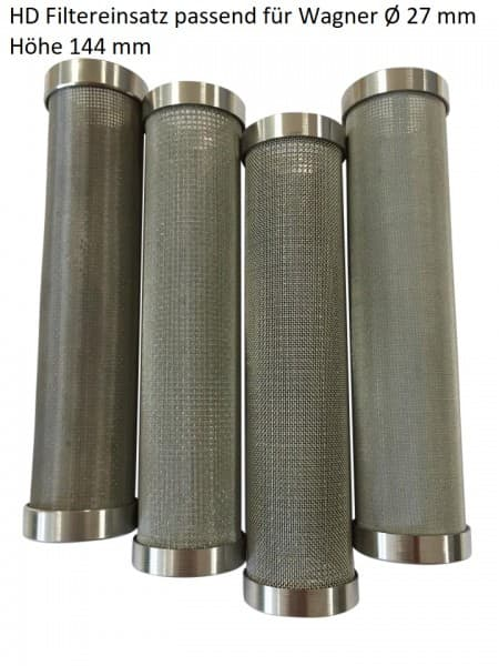 3x Hauptfilter aus Metall passend für Wagner Ø 27mm Höhe 114 mm