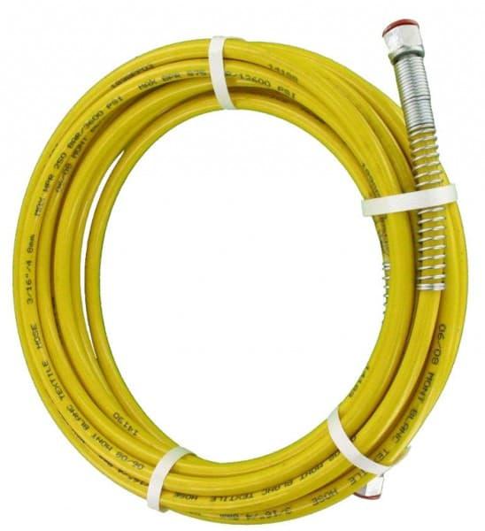 """Airless Schlauch 15 Meter NW6 Gelb Anschluss 1/4"""" NPS Normalsahl für Dispersion und Lösemittel"""