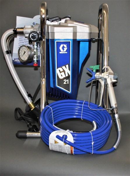 """Graco GX 21 Farbspritzgerät mit Ansaugvorrichtung auf Tragegestell """"Neugerät"""""""