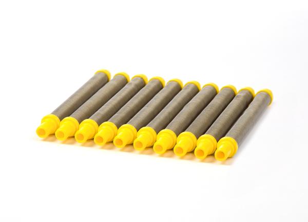 Airless Einsteckfilter 10 Stück für Wagner und Airless Pistolen gelb, 100 Maschen